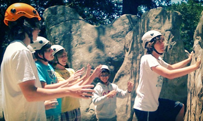 Treks and Tracks - Multiple Locations: One, Two, or Three Groupons, Each Good for a One-Day Children's Rock-Climbing Camp from Treks and Tracks (Up to 61% Off)