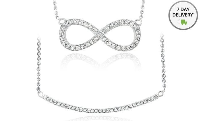 Silver Tone Swarovski Elements Necklaces: Silver Tone Swarovski Elements Necklaces. Multiple Styles. Free Returns.