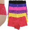 6-Pack of Women's Lace Boyshort Panties