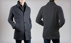 Kenneth Cole Men's Patrick Plush Wool Car Coat | Groupon