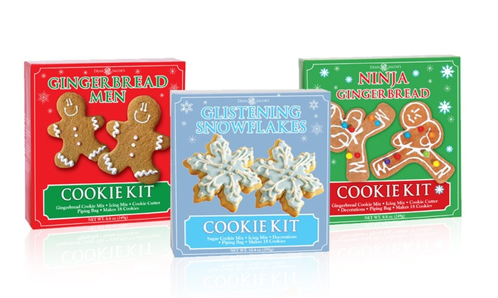 Holiday-Themed Cookie-Kit 2-Packs: Gingerbread Men, Ninja Gingerbread, and Snowflake Cookie-Kit 2-Packs