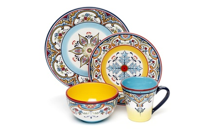 Euro Ceramica 16-Piece Zanzibar Dinnerware Set | Brought to You by ideel