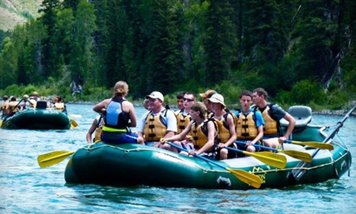 Teton Whitewater LLC - Jackson Hole: Four-Hour Scenic River-Rafting Trip for One or Four from Teton Whitewater LLC in Jackson Hole (Up to 59% Off)