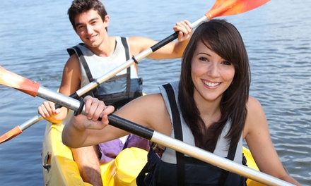 Friday or Saturday Sunset Kayaking Trip and Wine Tasting for 2 at Lake Blue Ridge Outfitters (58% Off)