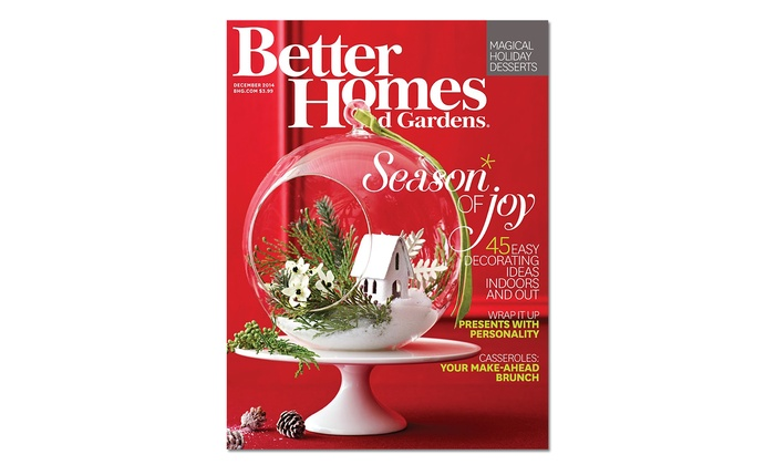 home decor magazine subscription better homes gardens