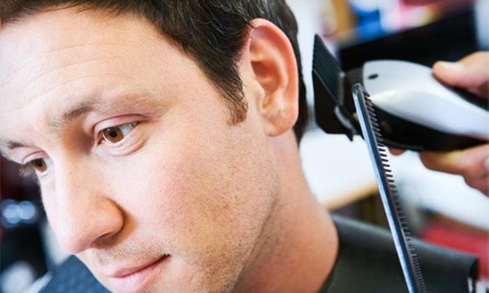 Jonn Laurenz Fine Cuts - Bayside: One or Three Men's Haircuts with Straight-Razor Lineup at Jonn Laurenz Fine Cuts (Up to 54% Off)