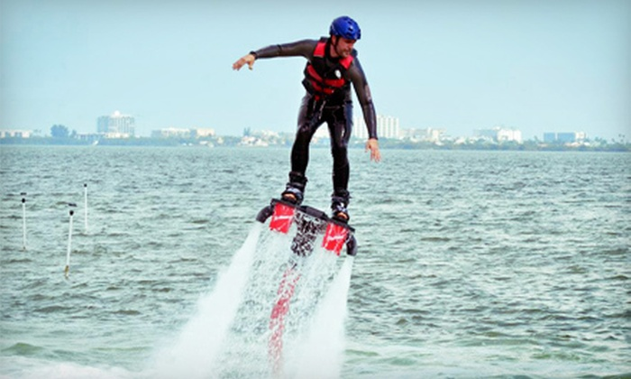 Fly Bros. - North Orange: 30-Minute Jet-Powered Flyboarding Outing for One or Two at Fly Bros. (Up to 53% Off)