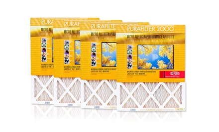 4-Pack of Purafilter Gold High-Efficiency Air Filters. Multiple Sizes from $19.99–$27.99.
