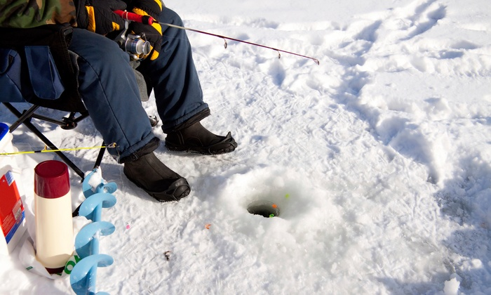 Trophy Ice Fish - Trophy Ice Fish Headquarters: Eight-Hour Ice-Fishing Trip for Two or Four at Trophy Ice Fish (53% Off)
