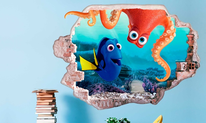Disney finding dory wall stickers groupon goods for Finding dory wall decals