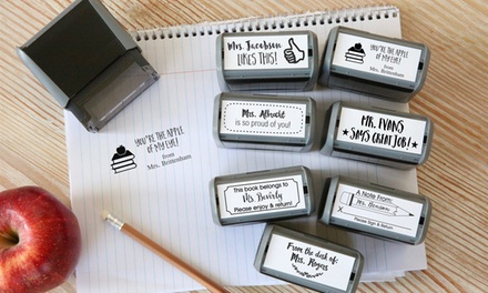 One, Two, or Three Personalized Teacher's Stamps from 2712 Designs (Up to 72% Off) Was: $70 Now: $19.49.
