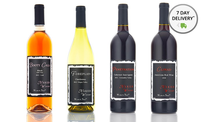 4-Pack of Wines from Naked Winery: 4-Pack of Wines from Naked Winery. Shipping Included.