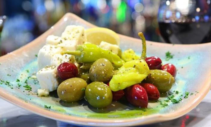 Santorini - Eden Prairie: Greek Cuisine at Santorini (Half Off). Two Options Available.