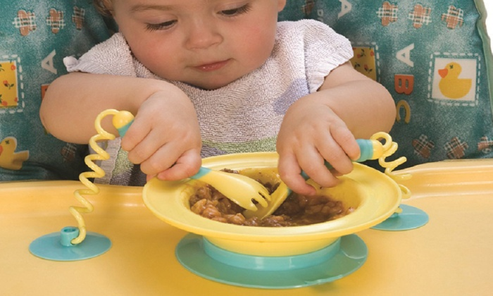 Dream Baby Stay-Put Bowl and Cutlery Set