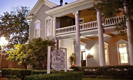 1- or 2-Night Stay for Two with Fruit-and-Cheese Platter at Crystal River Inn in San Marcos, TX
