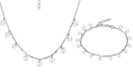 Bracciale e collana con cristalli zirconi