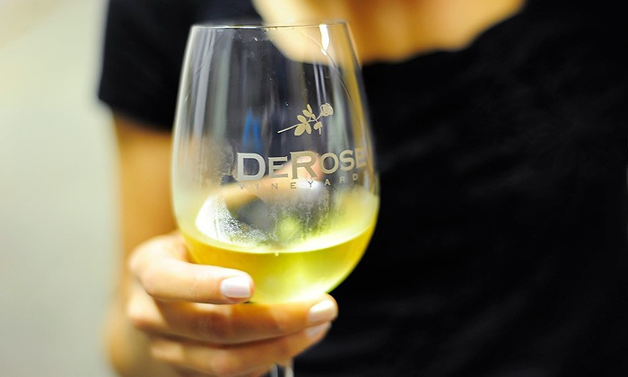 DeRose Winery - Downtown Salinas: Wine Tasting for Two or Four with Bottles, or Tasting for Two with History at DeRose Winery (Up to 64% Off)