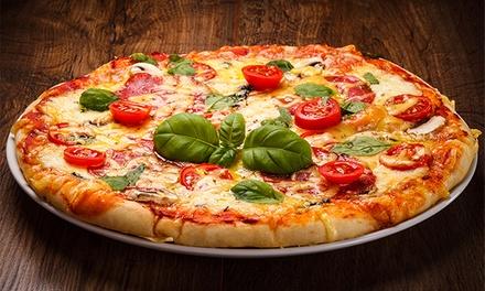 Menú para 2 con entrante, principal de pizza o pasta, postre y botella de lambrusco desde 19,90 € en Restaurante Socarra
