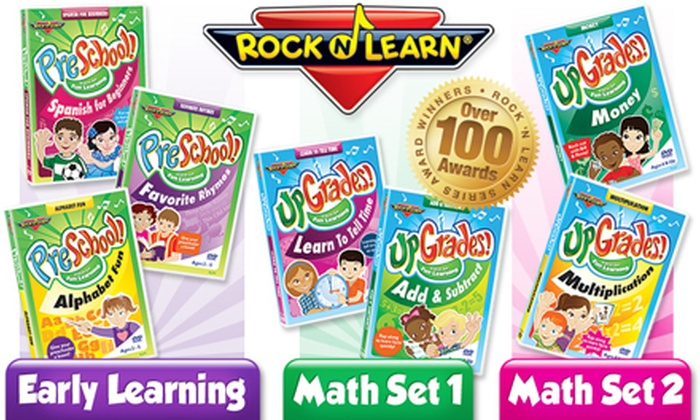 Rock 'N Learn: Math and Language DVD Packages from Rock 'N Learn  (Up to 56% Off). Three Options Available.