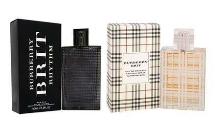 Burberry Brit and Brit Rhythm Eau de Toilette for Men and Women from $34.99–$44.99