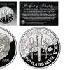Ronald Reagan Commemorative Clad 0.999 Fine Silver Plated Tribute Dime