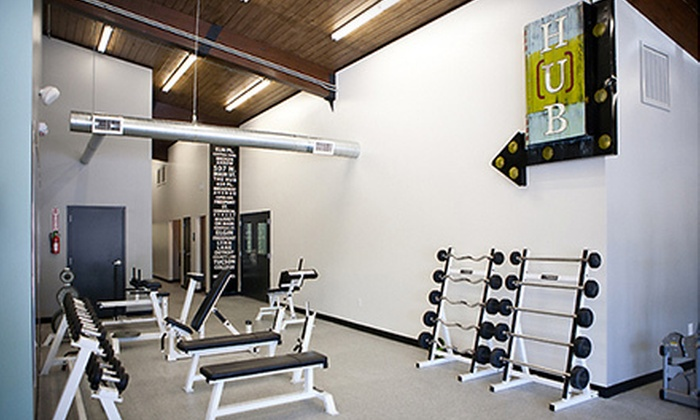 The HUB Gym - Broken Arrow: Eight-Class Punch Card or Three-Month Individual Membership at The HUB Gym (Up to 75% Off)