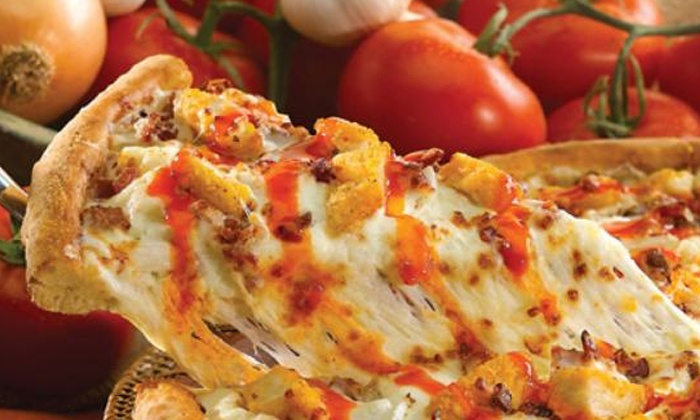 Papa John's - Multiple Locations: Three-Topping Pizza Meals for Takeout or Delivery from Papa John's (Up to 53% Off). Three Options Available.