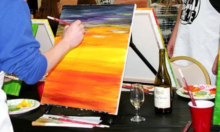 Canvas painting class paint craze groupon for Groupon painting class