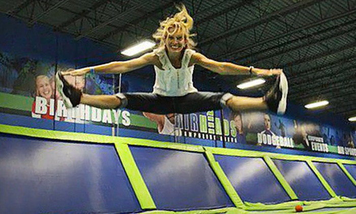 AirHeads Trampoline Arena - Multiple Locations: Three or Six Classes or One Month of Unlimited Trampoline-Fitness Classes at AirHeads Trampoline Arena (Up to 51% Off)