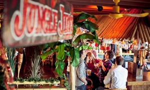 Jungle Jim's: Ribs, Burgers, Chicken, Seafood, and Sandwiches and Steak-House Cuisine at Jungle Jim's (Up to 50% Off)