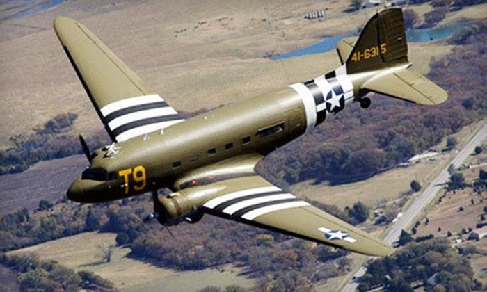 Greatest Generation Aircraft - American Aero: Christmas Lights Nighttime Flight Over the Metroplex for One or Two from Greatest Generation Aircraft (Up to 53% Off)