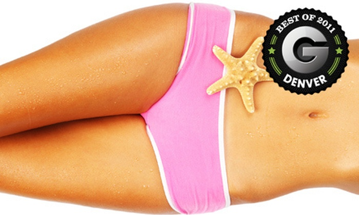 Darque Tan - Multiple Locations: Two Spray Tans, One or Three Months of Red-Light Therapy, or One Month of UV Tanning at Darque Tan (Up to 78% Off)