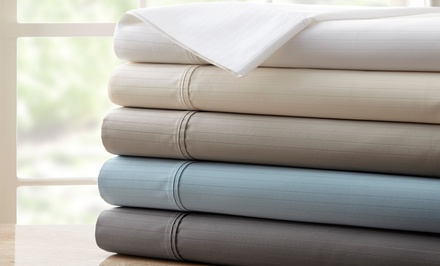1,200-Thread-Count Egyptian Cotton-Rich Stripe Sheet Set; from $69.99–$79.99