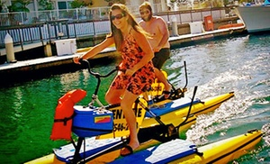 $10 for a One-Hour Hydrobike Ride from Long Beach Hydrobikes ($20 Value)