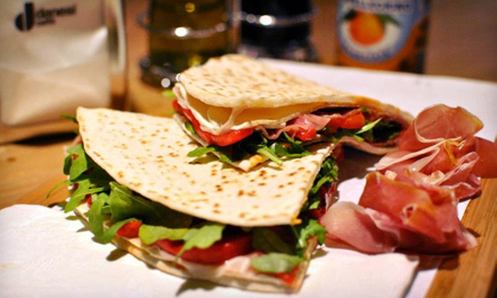 Piada - Midtown Center: $15 for a Flatbread Sandwich Meal with Drinks and Sides for Two at Piada (Up to $31.80 Value)