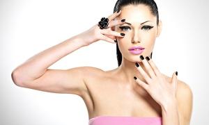 Salon Mikimoto: Spa Manicure and Facial or Mani-Pedi with Shampoo at Salon Mikimoto (Up to 57% Off)
