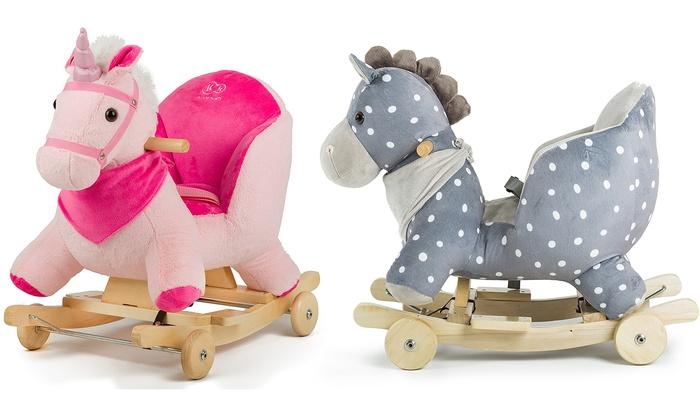 animal /à bascule jouet /à bascule peluche Cheval /à bascule Kinderkraft avec roues