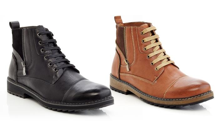 Marco Vitale Men's Casual Side-Zip Chukka Boots