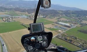 Helispin: Giro in elicottero Robinson R22 con briefing e pranzo per una persona (sconto fino a 44%)