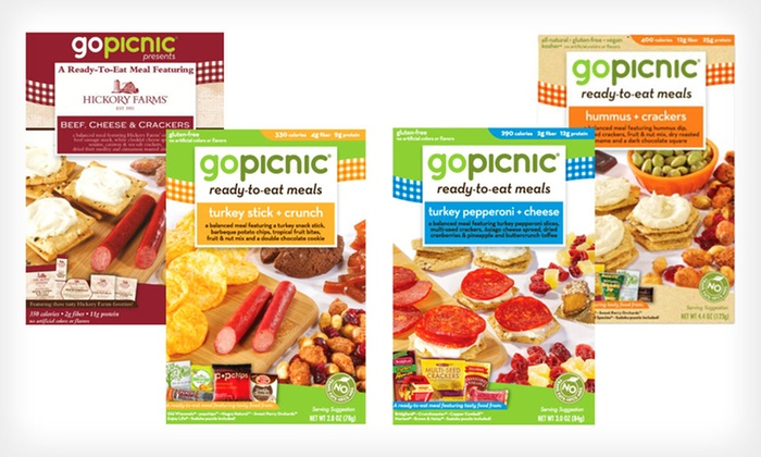 12-Pack of GoPicnic Ready-to-Eat Meals: $35.99 for 12 GoPicnic Ready-to-Eat Meals (Up to $59.88 List Price). Four Options Available. Free Shipping.