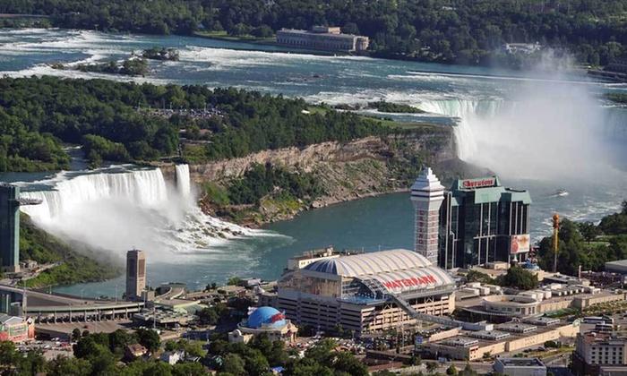 Crowne Plaza Niagara Falls – Fallsview Hotel - Niagara Falls: One Night with Food, Wine, Casino-Shuttle, and Spa Credits at Crowne Plaza in Niagara Falls, ON