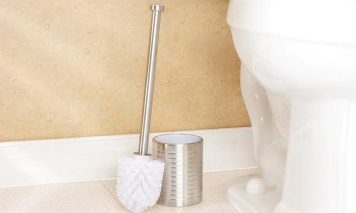 Stainless Steel Toilet-Brush Set: Stainless Steel Toilet-Brush Set. Free Returns.