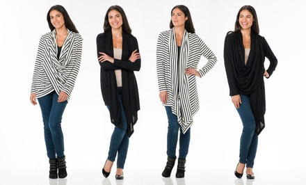 Multi-Drape Cardigan by Sociology