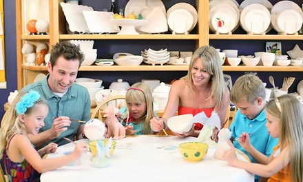 Pottery-Studio Fees for Two or Four at Color Me Mine (Up to 52% Off)