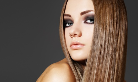 Brazilian or Regular Blowout with Optional Split-End Repair at Salon International (Up to 66% Off)