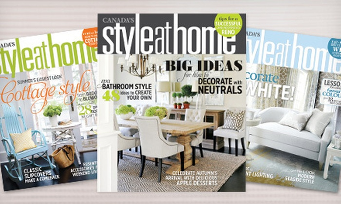 """Style at Home"" : $10 for a One-Year Subscription to ""Style at Home"" Magazine ($19 Value)"