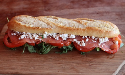 Two Panini Sandwiches and Two Sodas, or Panini Sandwiches and Cookies for Up to 10 at Panfiore (Up to 40%Off)