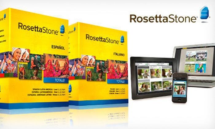 Rosetta Stone Language Solution: $269 for a Rosetta Stone Spanish (Latin America), French, or Italian Level 1–4 Set (List Price of $449). Free Shipping.