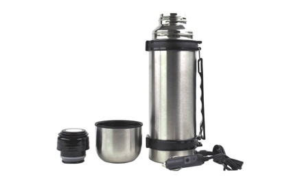 12V Portable Heated Stainless Steel Thermos