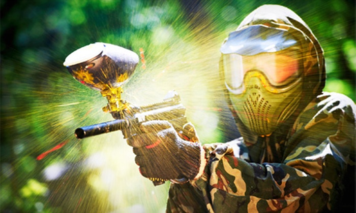 West Coast Adventure Park - Plymouth: All-Day Paintball for 2, 4, 6, 8, or 10 at West Coast Adventure Park (Up to 56% Off)